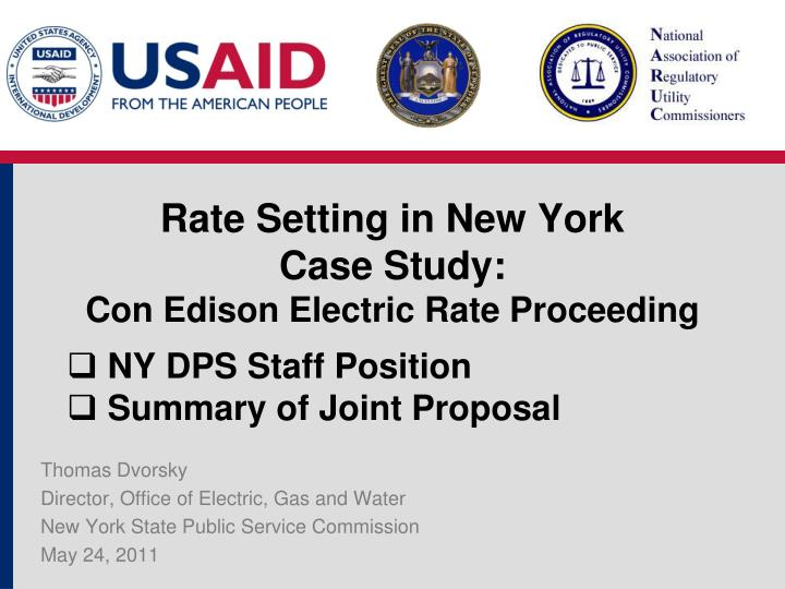 Rate Setting in New York