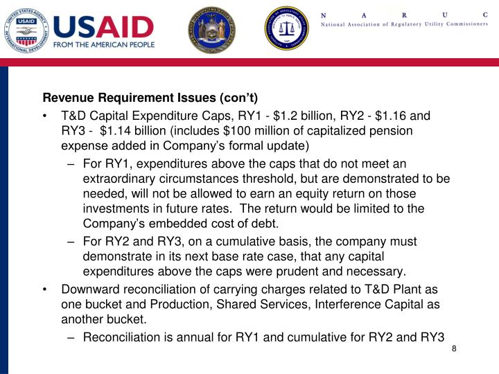 Revenue Requirement Issues (