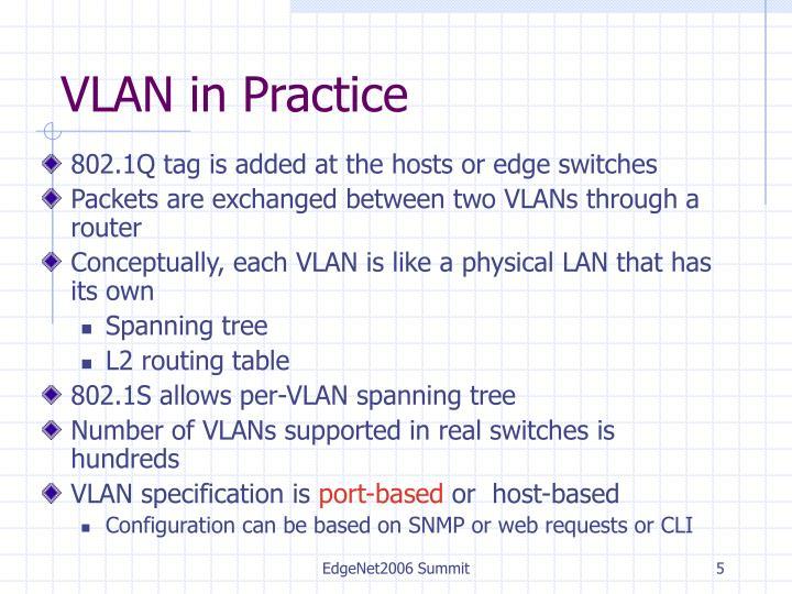 VLAN in Practice