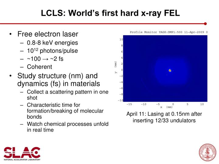 LCLS: World's first hard x-ray FEL