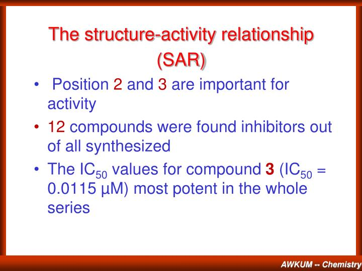 The structure-activity relationship (SAR)