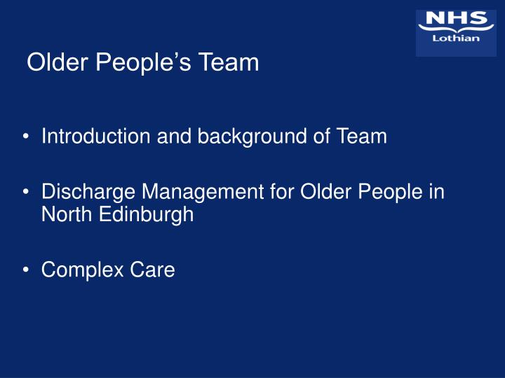 Older People's Team