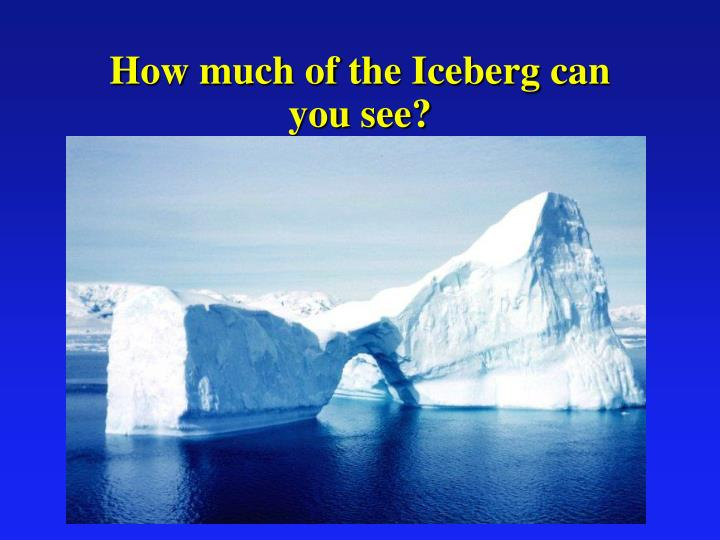 How much of the Iceberg can you see?