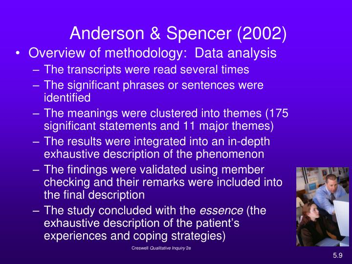 Anderson & Spencer (2002)