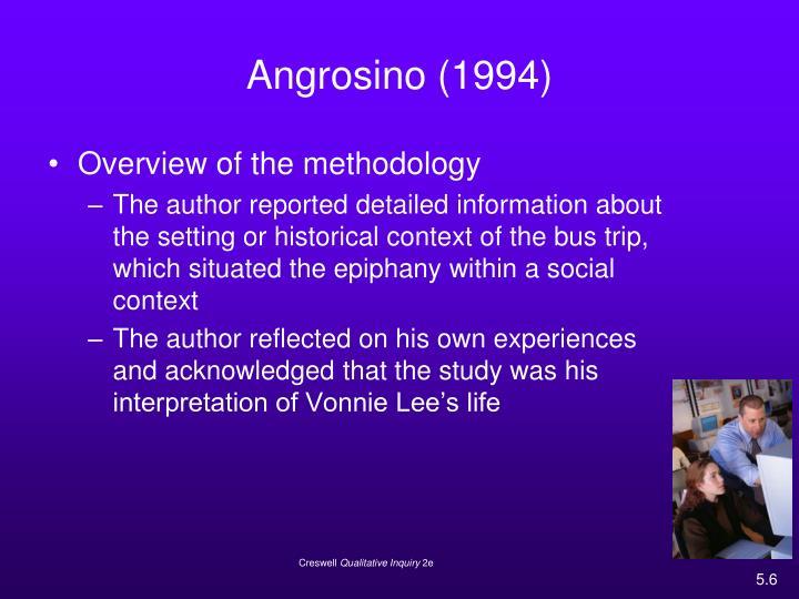 Angrosino (1994)