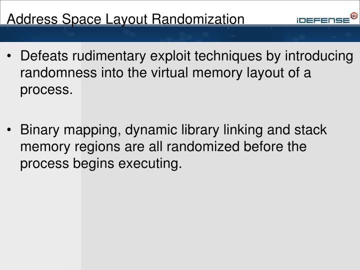 Address Space Layout Randomization