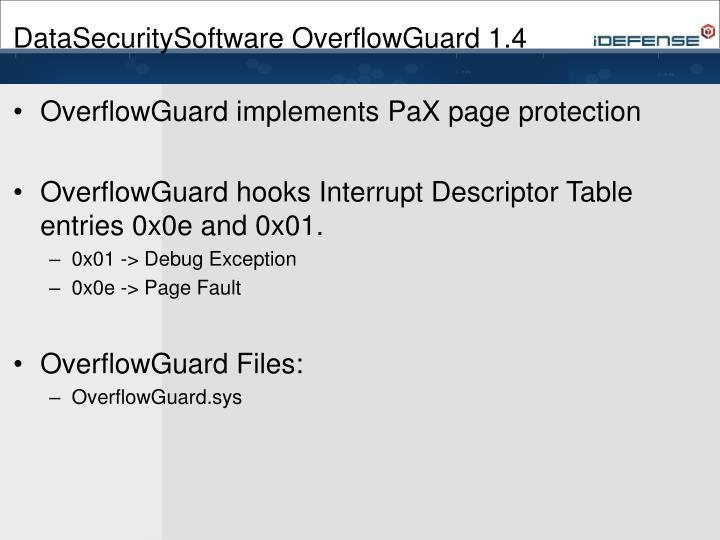 DataSecuritySoftware OverflowGuard 1.4