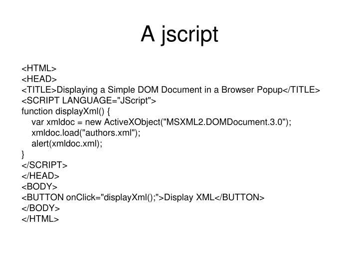 A jscript