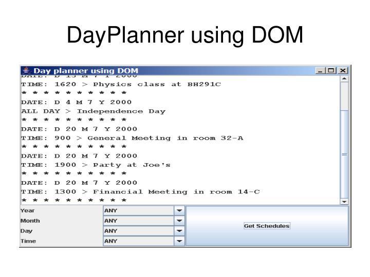 DayPlanner using DOM