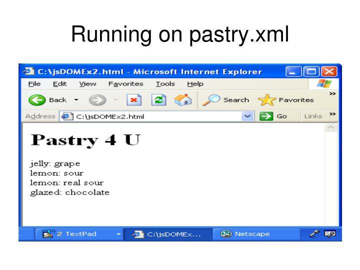 Running on pastry.xml