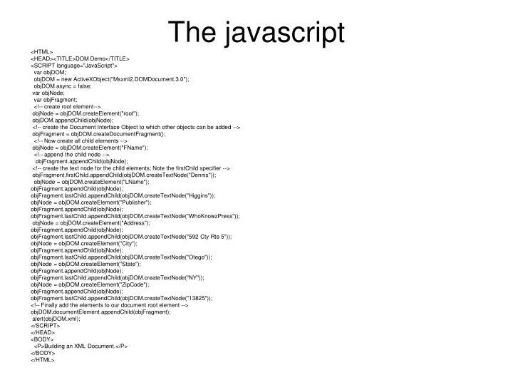 The javascript