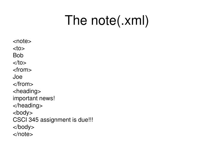 The note(.xml)
