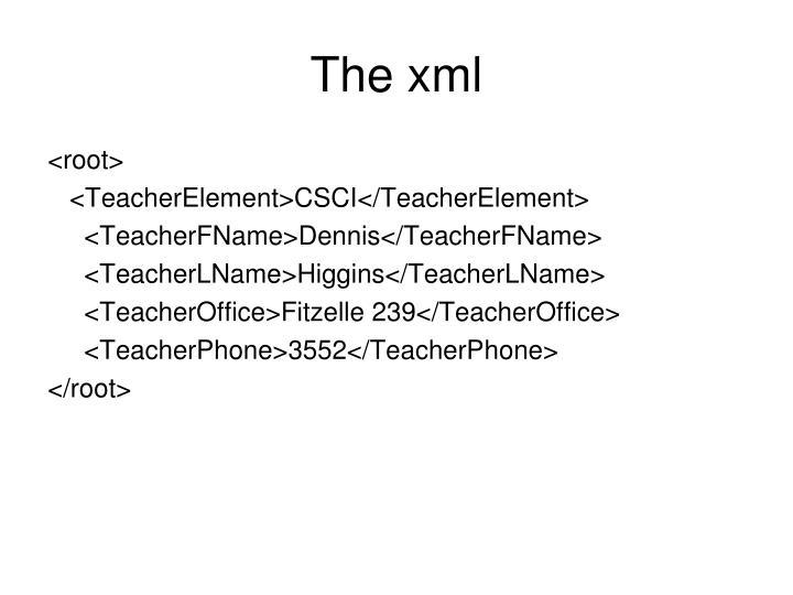 The xml