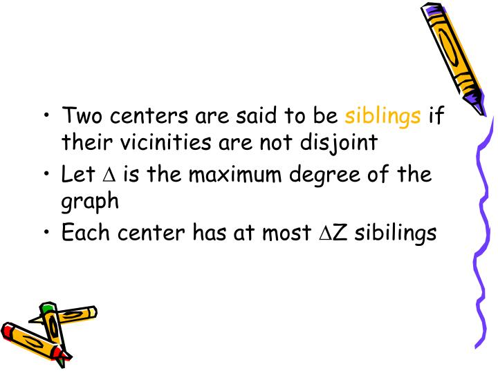Two centers are said to be