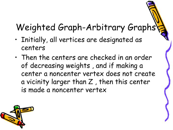 Weighted Graph-Arbitrary Graphs