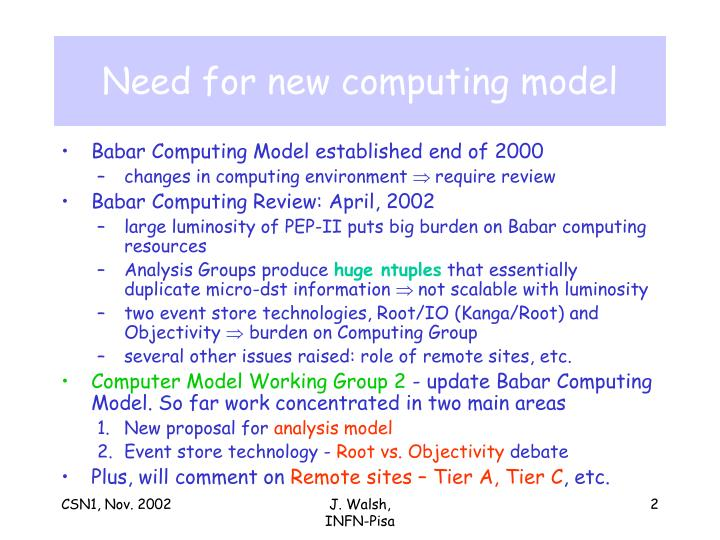 Need for new computing model
