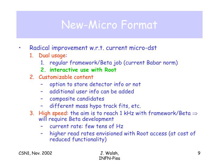 New-Micro Format