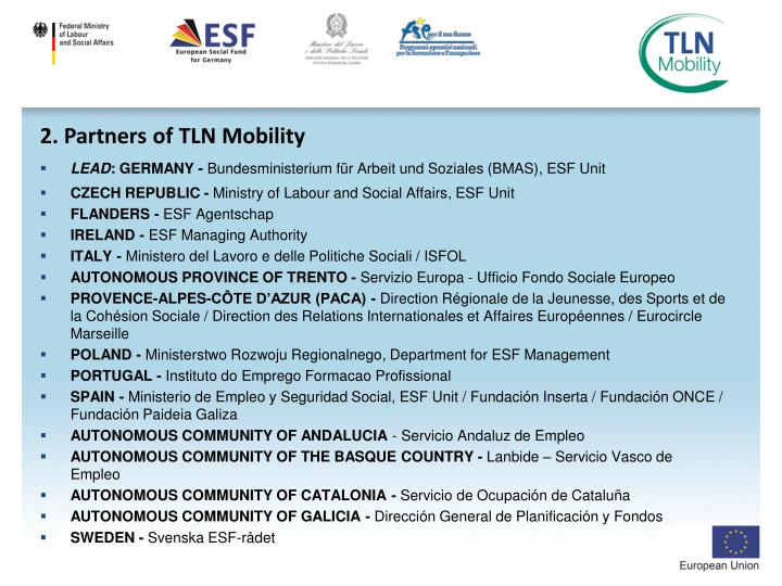 2. Partners of TLN Mobility