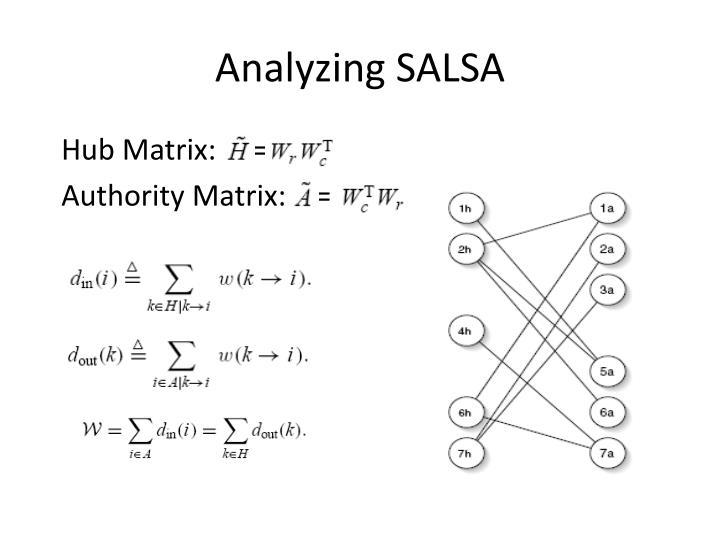 Analyzing SALSA