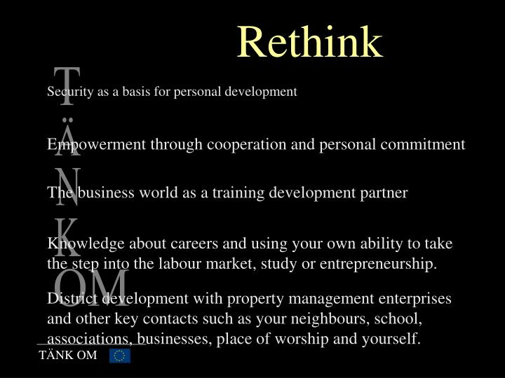 Security as a basis for personal development
