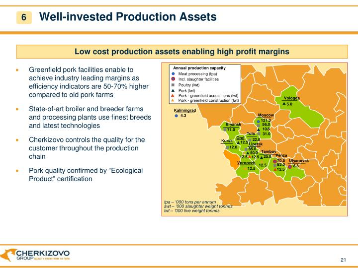 Well-invested Production Assets
