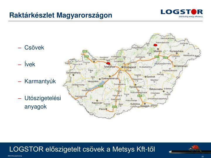 Raktárkészlet Magyarországon