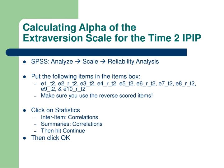 Calculating Alpha of the