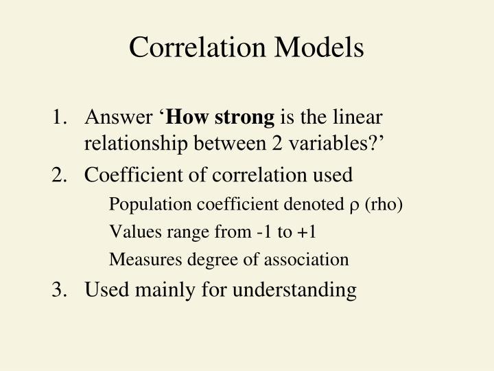 Correlation Models