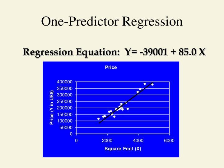 One-Predictor Regression