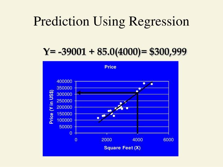 Prediction Using Regression