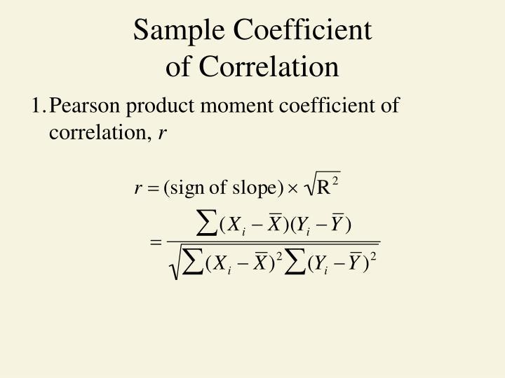 Sample Coefficient