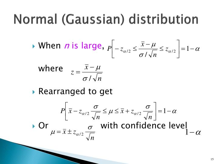 Normal (Gaussian) distribution