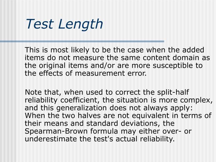 Test Length