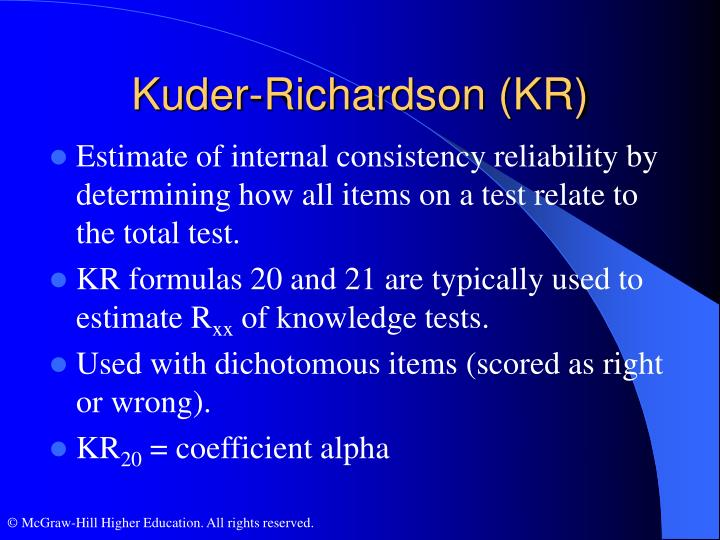 Kuder-Richardson (KR)