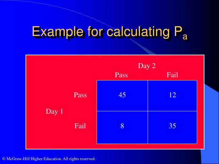 Example for calculating P