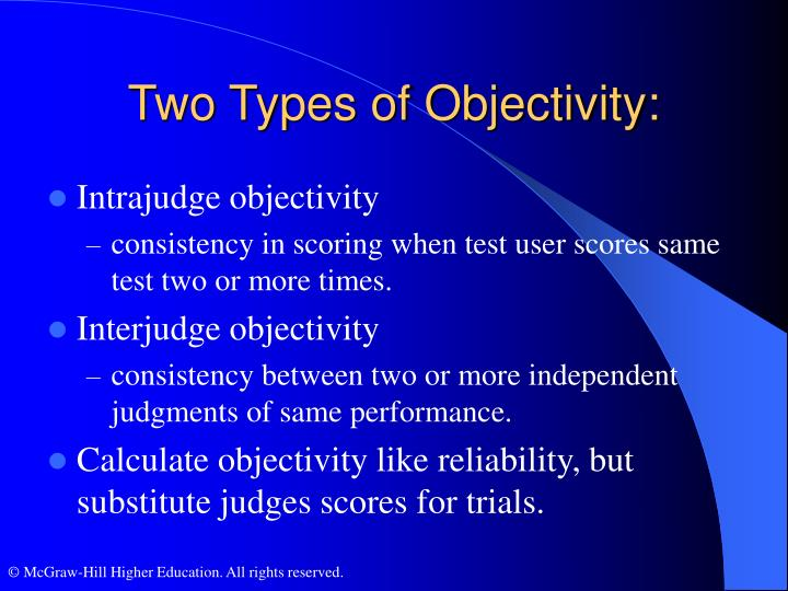 Two Types of Objectivity: