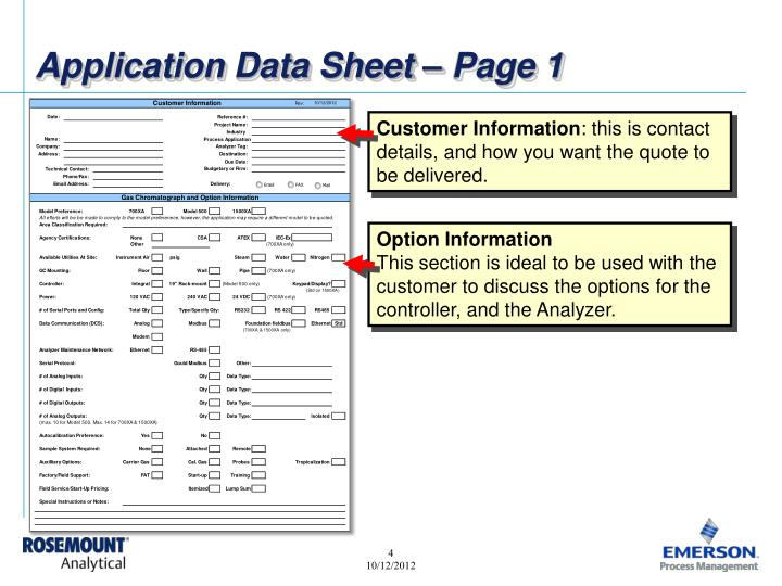 Application Data Sheet – Page 1