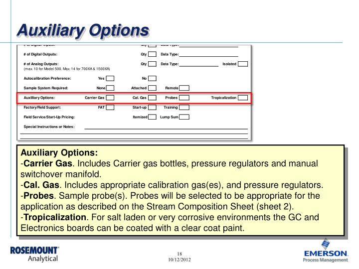 Auxiliary Options