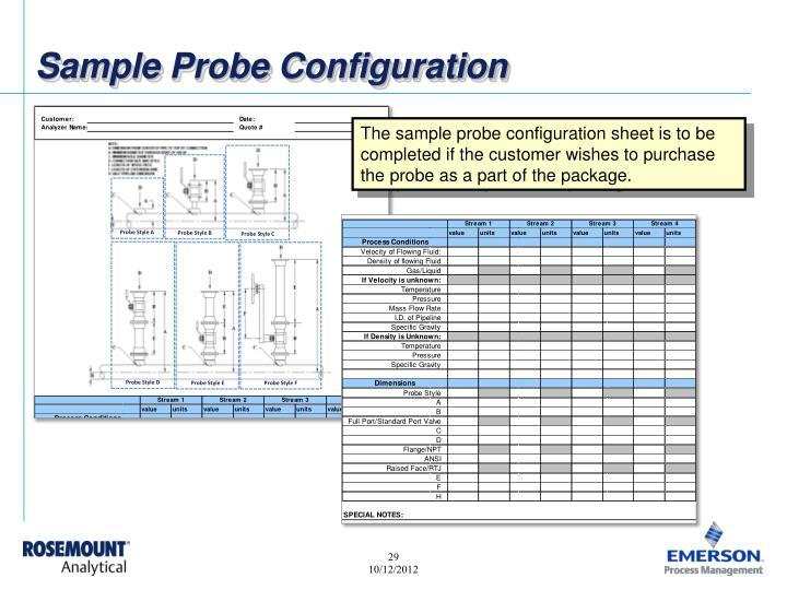 Sample Probe Configuration