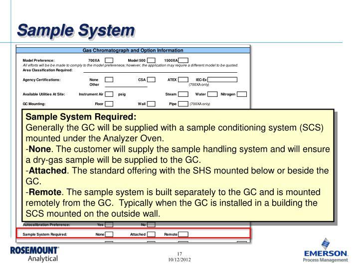 Sample System