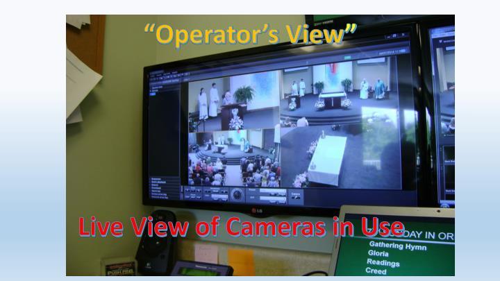 """Operator's View"