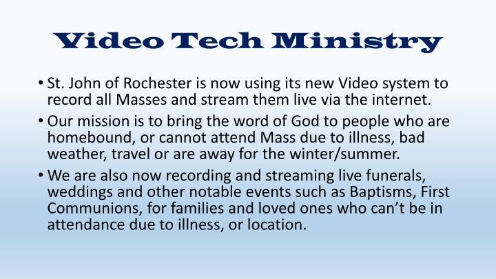 Video Tech Ministry