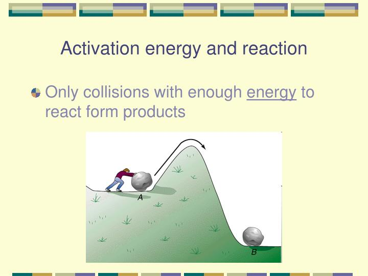 Activation energy and reaction