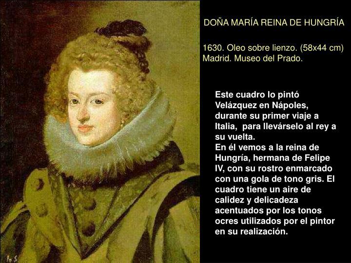 DOÑA MARÍA REINA DE HUNGRÍA