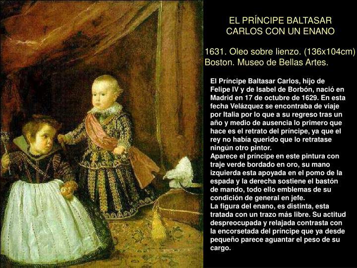 EL PRÍNCIPE BALTASAR CARLOS CON UN ENANO