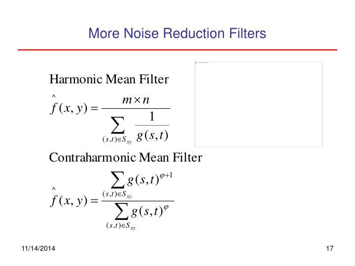 More Noise Reduction Filters