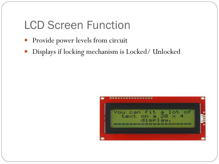 LCD Screen Function