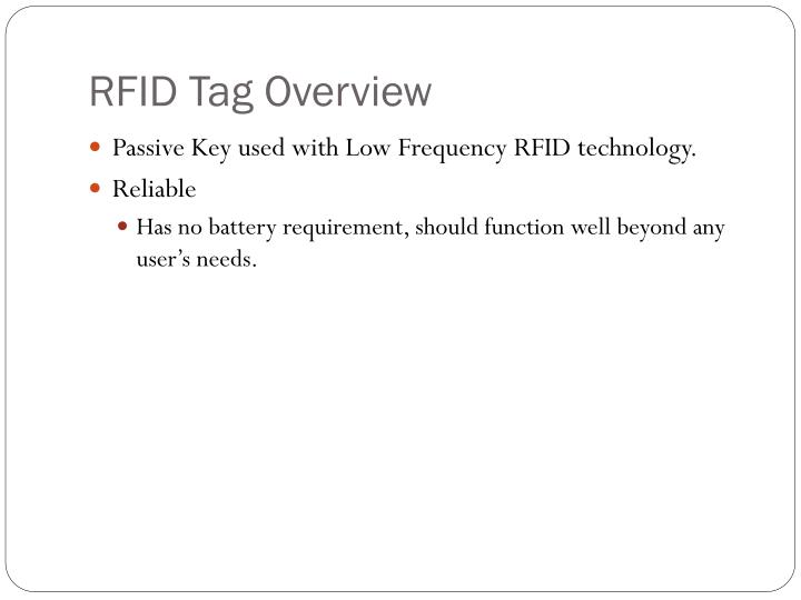 RFID Tag Overview