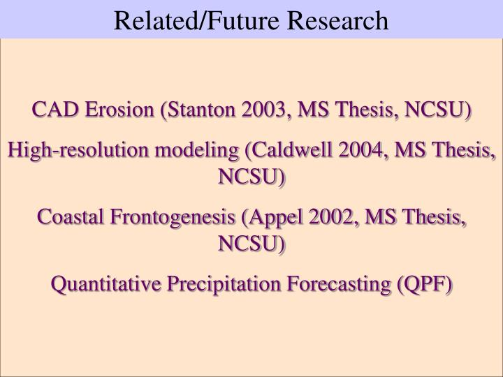 Related/Future Research