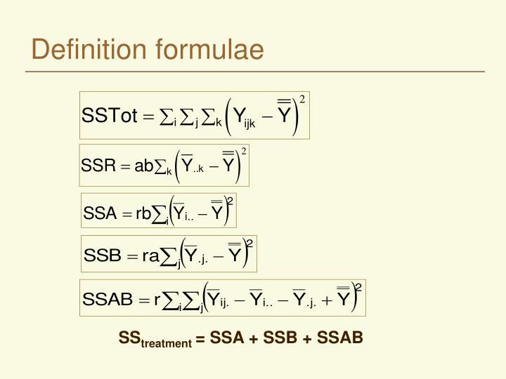 Definition formulae